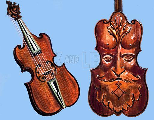 Seven-stringed viola.