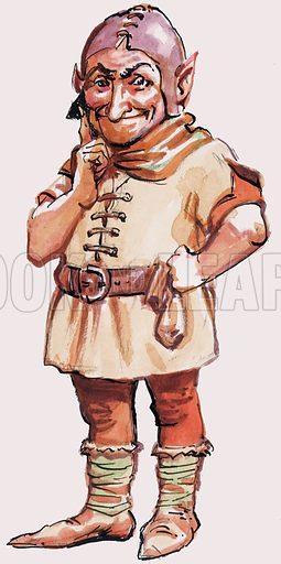 Unidentified portrait of dwarf or troll. Original artwork.