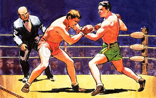 Boxing Match. Panel from cover of Look and Learn no. 236 (23 July 1966).