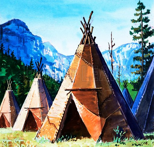 Teepee. Panel from cover quiz from Look and Learn no. 169 (10 April 1965).