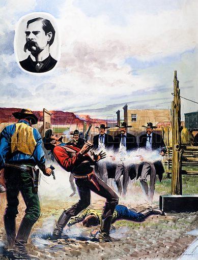Wyatt Earp and the Battle of the OK Corral.