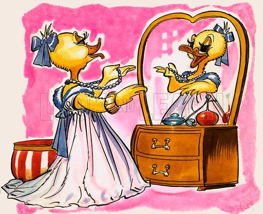 Dressing Up for Ducks. Original artwork.