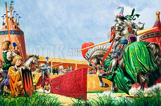 Jousting, picture, image, illustration