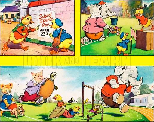 Dicky and Dolly. Original artwork from Playhour 185 (26 April 1958).