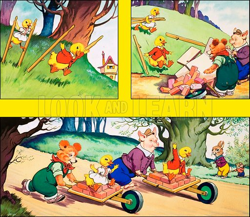 Dicky and Dolly. Original artwork from Playhour no. 120 (26 January 1957).