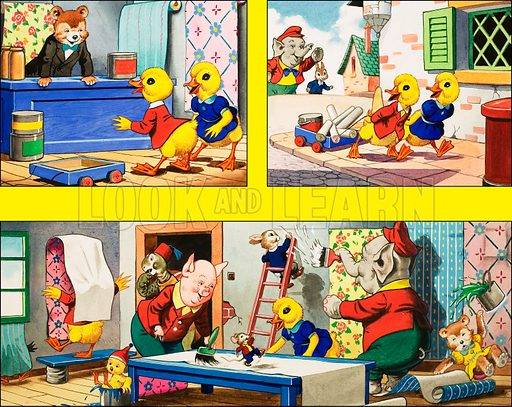 Dicky and Dolly. Original artwork from Playhour 214 (15 November 1958).