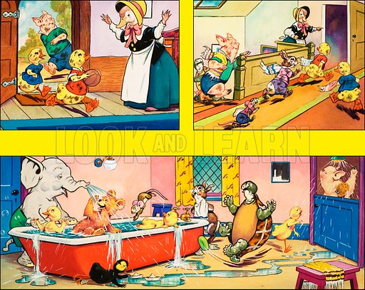 Dicky and Dolly. Original artwork from Playhour 215 (22 November 1958).