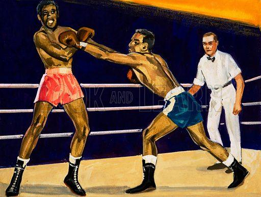 Boxing. Original artwork.