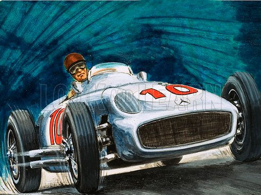 Juan Fangio, picture, image, illustration
