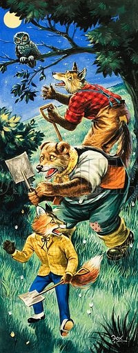 Brer Rabbit. Original artwork from Once Upon a Time no. 141.