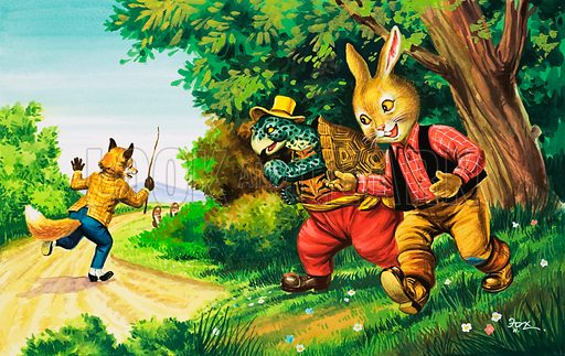 Brer Rabbit. Original artwork from Once Upon a Time no. 142.