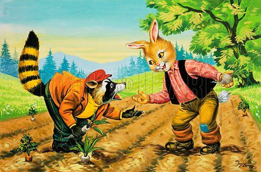 Brer Rabbit and Brer Coon, picture, image, illustration