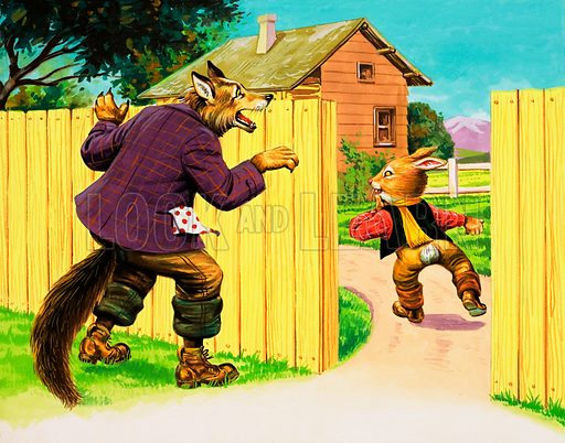 Brer Rabbit. Original artwork from Once Upon a Time no. 156.