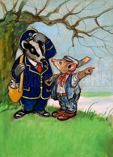Town Mouse and Country Mouse. Original artwork from Once Upon a Time no. 158.