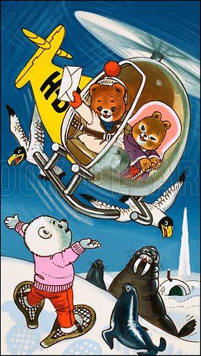 Teddy Bear. Original artwork from Teddy Bear (20 December 1975).