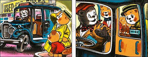 Teddy Bear. Original artwork from Teddy Bear (4 July 1981).