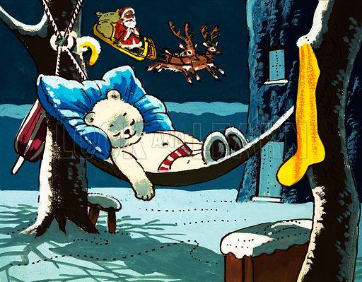 Teddy Bear. Original artwork from Teddy Bear (27 December 1975). oaned for scanning by the Illustration Art Gallery.