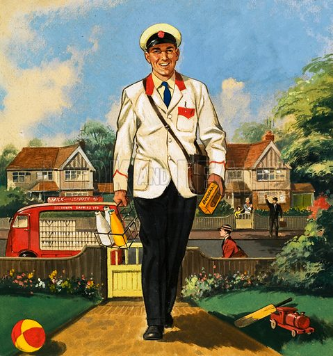 People You See. The Milkman. From Teddy Bear (21 September 1966). Original artwork loaned for scanning by the Illustration Art Gallery.