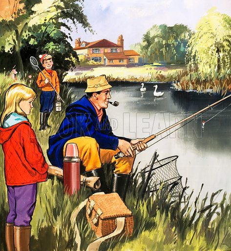 People You See. Fisherman on a riverbank. From Teddy Bear (21 February 1970).