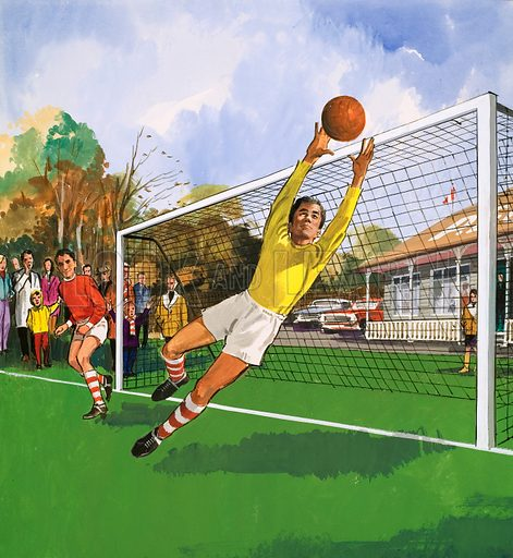 People You See. Goalkeeper in the football match. From Teddy Bear (date unknown).