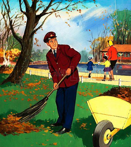 park attendant, picture, image, illustration
