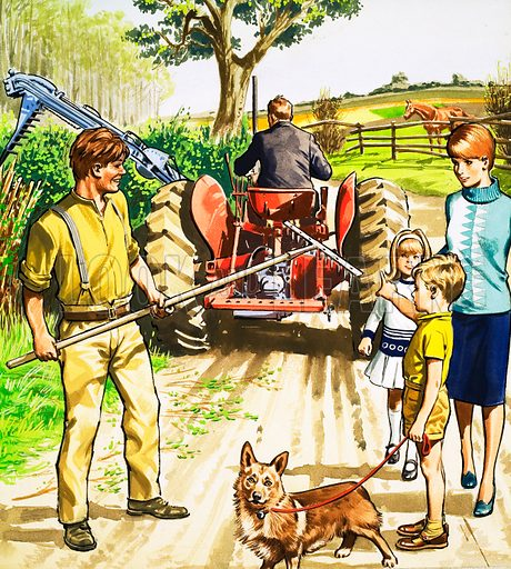 People You See. Tractor driver and mower. From Teddy Bear (22 July (year unknown)).