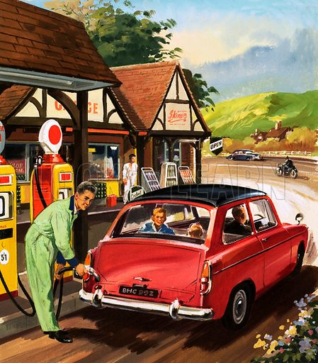 People You See. Petrol pump attendant. From Teddy Bear (7 December 1963).