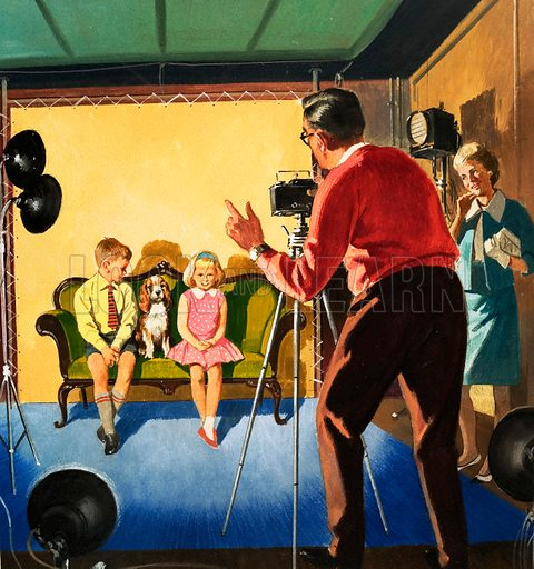 People You See. The Photographer. From Teddy Bear (23 November 1963). Original artwork loaned for scanning by the Illustration Art Gallery.