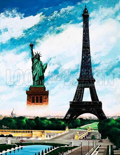 Who built the Eiffel Tower? Alexandre Gustave Eiffel. From Treasure no. 226 (13 May 1965).