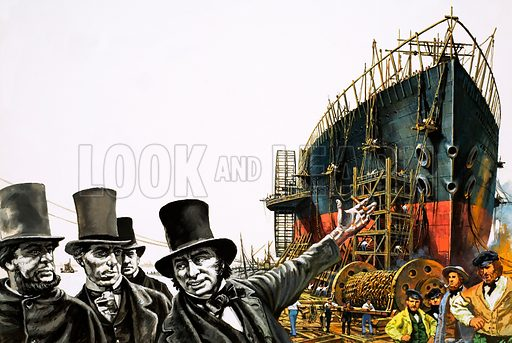 A Man of Genius: Launching the Ocean Giant. The Great Eastern is launched in 1858. From Look and Learn no. 1017 (5 September 1981).