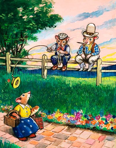 Town Mouse and Country Mouse. From Once Upon a Time no. 82.
