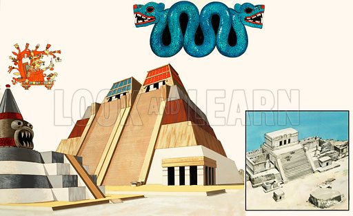 Second Sight: The Amazing Capital of the Aztecs. The amazing city of Tenochtitlan, on the site of present-day Mexico City. From Look and Learn no. 1030 (5 December 1981).