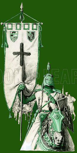 Crusader. Original artwork for illustration on p8 of the World of Wonder Book 1975.