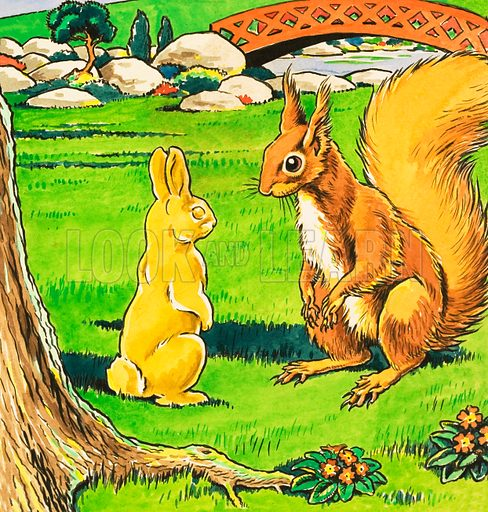 Little Red Squirrel. From Jack and Jill Book 1979.