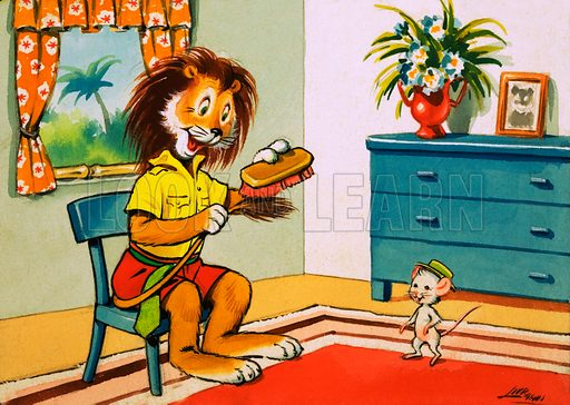 Leo the Friendly Lion. From Playhour (8 October 1960). Original artwork loaned for scanning by the Illustration Art Gallery.