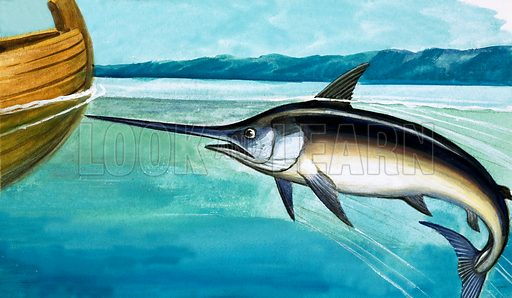 Swordfish. Original artwork from Once Upon a Time 70.