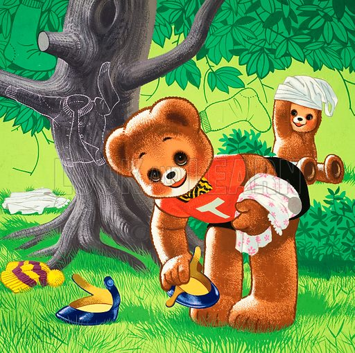 Teddy Bear. From Teddy Bear (26 April [year unknown]). Original artwork loaned for scanning by the Illustration Art Gallery.
