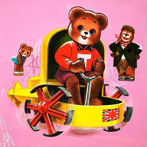 Teddy Bear. From Teddy Bear (30 October 1971). Original artwork loaned for scanning by the Illustration Art Gallery.