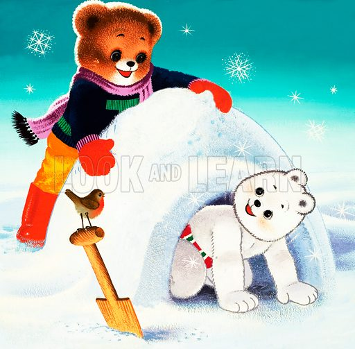 Teddy Bear.  Original artwork for Teddy Bear.  Lent for scanning by the Illustration Art Gallery. Hidden objects have been removed.