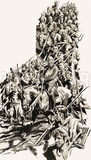 The Warrior Who Changed a Nation. Earl Simon took on King Henry over his many broken promises with an army of farmers and villagers. Original artwork from Look and Learn no. 7 (3 March 1962).