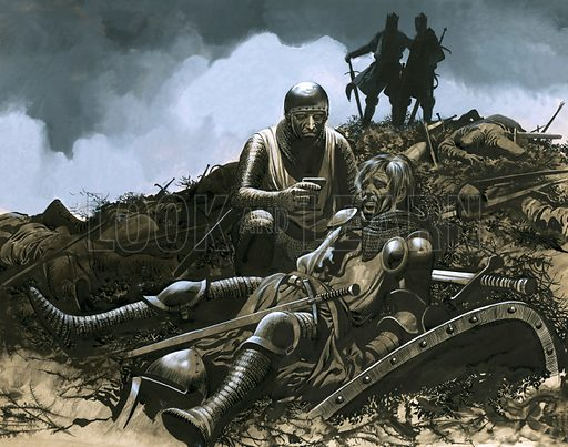 Battle of Crecy (picture, illustration, art, artwork: Ron Embleton)