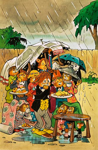 Harold Hare's Garden Party. From Jack and Jill Book 1981.
