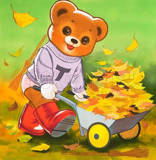 Teddy Bear. From Teddy Bear (30 October 1965). Original artwork loaned for scanning by the Illustration Art Gallery.