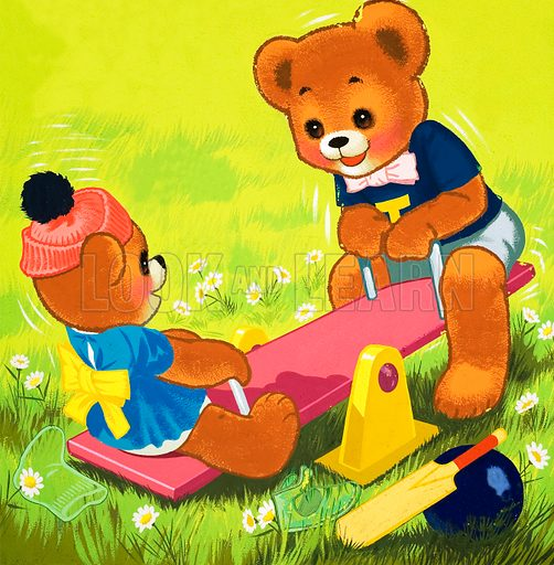 Teddy Bear. From Teddy Bear (20 March 1965). Original artwork loaned for scanning by the Illustration Art Gallery.