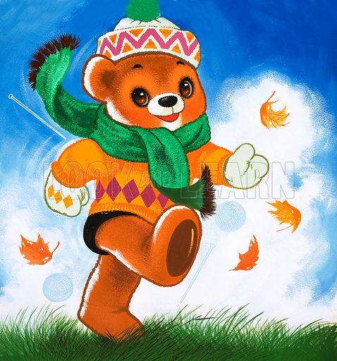 Teddy Bear. From Teddy Bear (4 December 1965). Original artwork loaned for scanning by the Illustration Art Gallery.