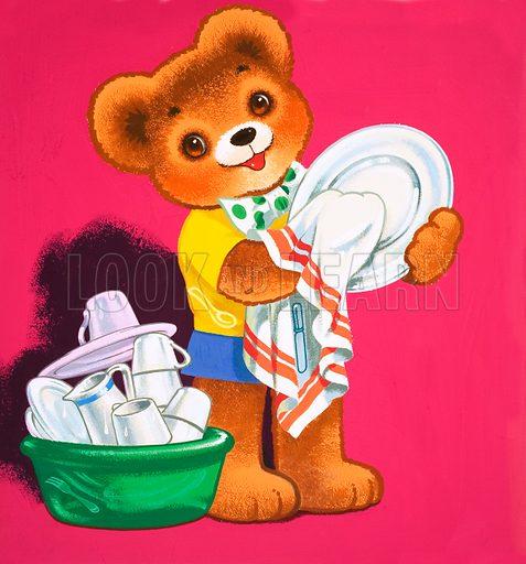 Teddy Bear. From Teddy Bear (5 December 1964). Original artwork loaned for scanning by the Illustration Art Gallery.