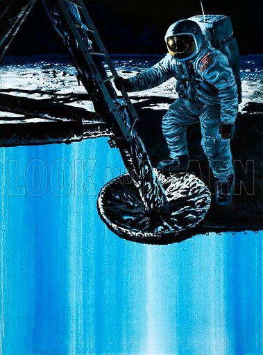 Moon Landing. Original artwork (dated 3rd February).