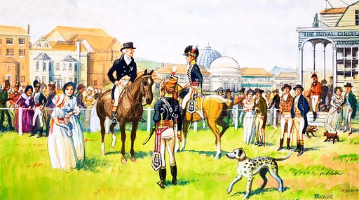 A day at the races. Original artwork.