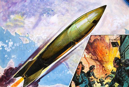 V2 rocket, picture, image, illustration