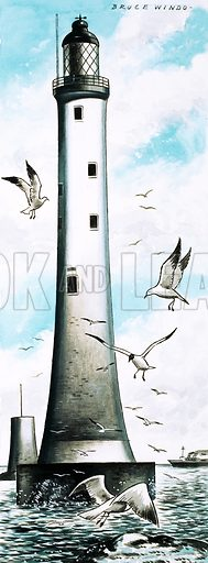 Lighthouse. Original artwork from World of Knowledge Annual 1983.
